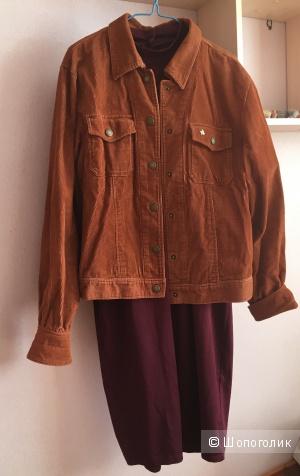 Комплект куртка-рубашка Lady Hamilton и платье Silvian Heach, 46-48 размер