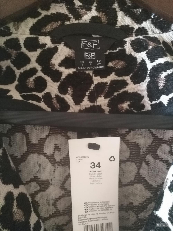 Пальто бренда F&F размер 42