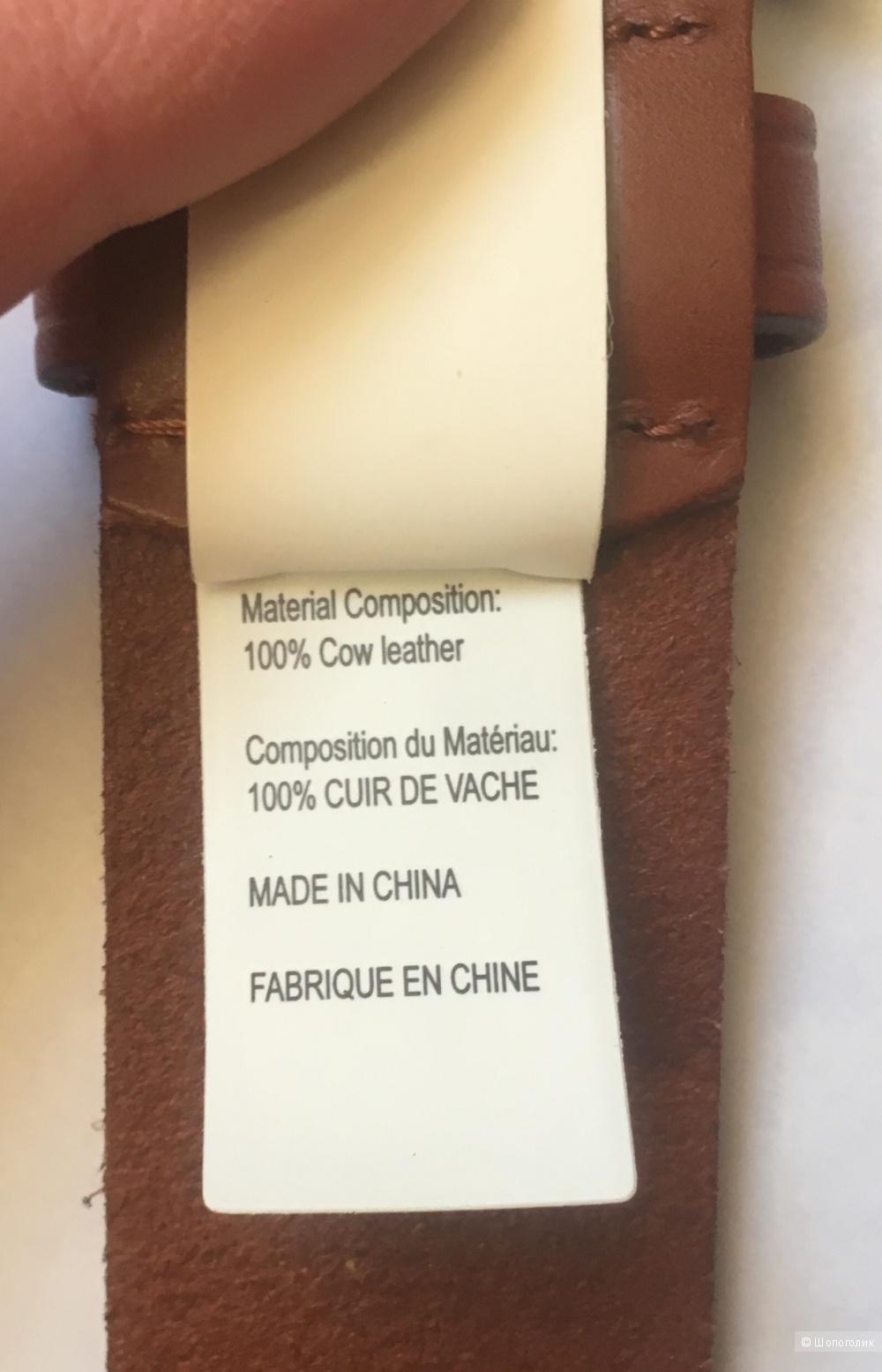Новый ремень Ralph Lauren, кожа, 46 размер