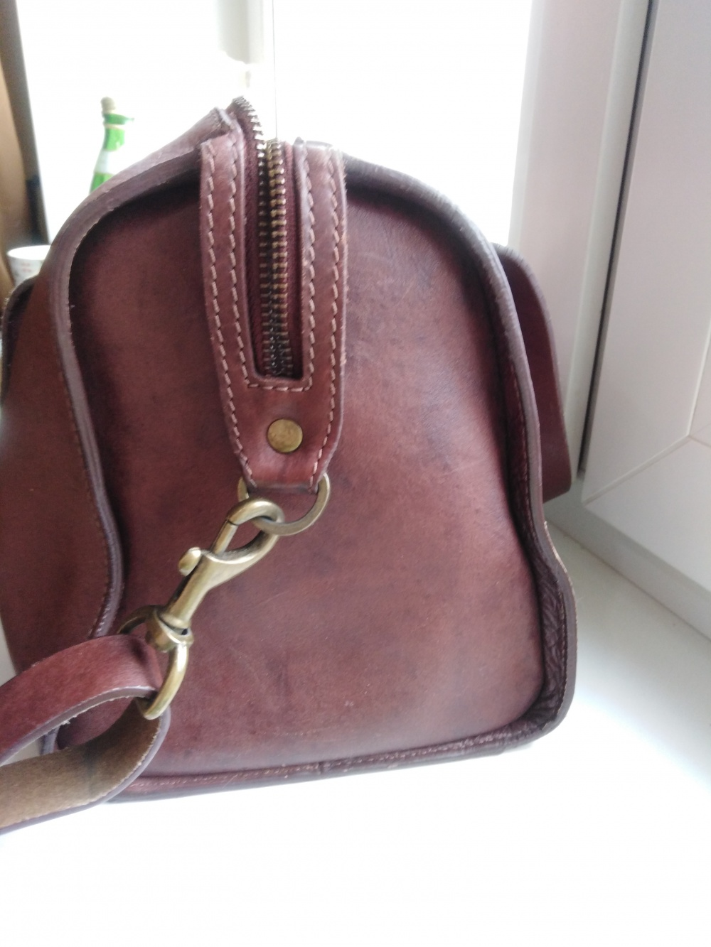 Кожаная сумка la redoute
