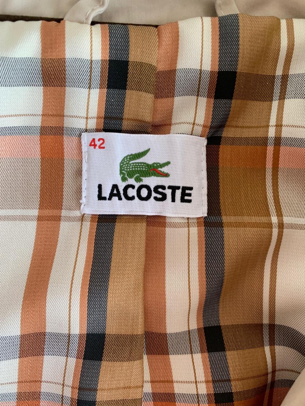 Бежевый тренч Lacoste, размер EUR 42