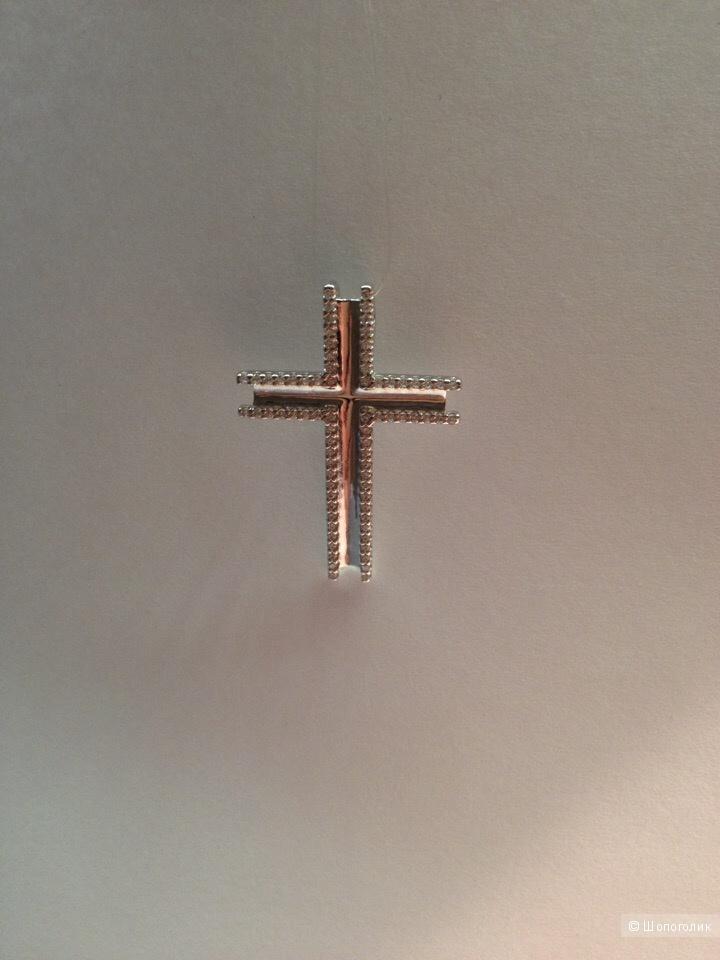 Женский серебряный  Ag 925°  крестик SOKOLOV  с фианитами