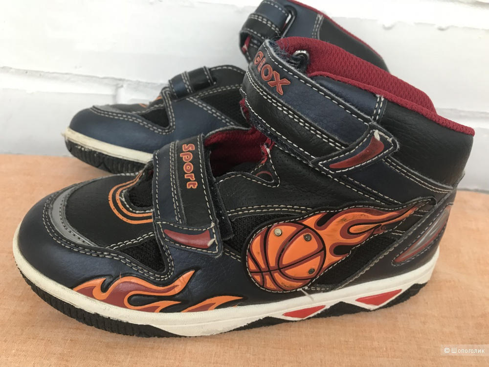 Кроссовки/ботинки Geox с подсветкой, р.33