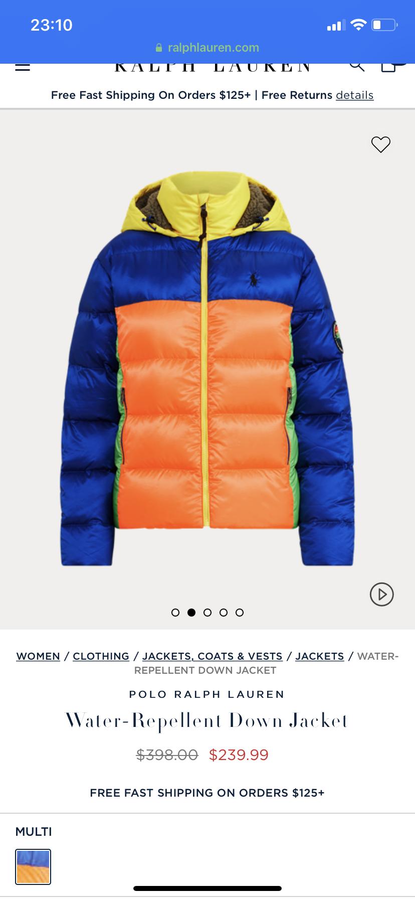 Куртка пуховик Ralph Lauren L