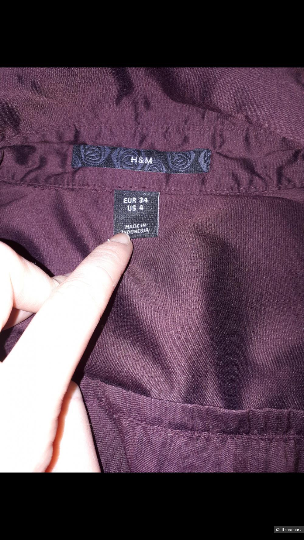 Рубашка H&M 34 евро р-р