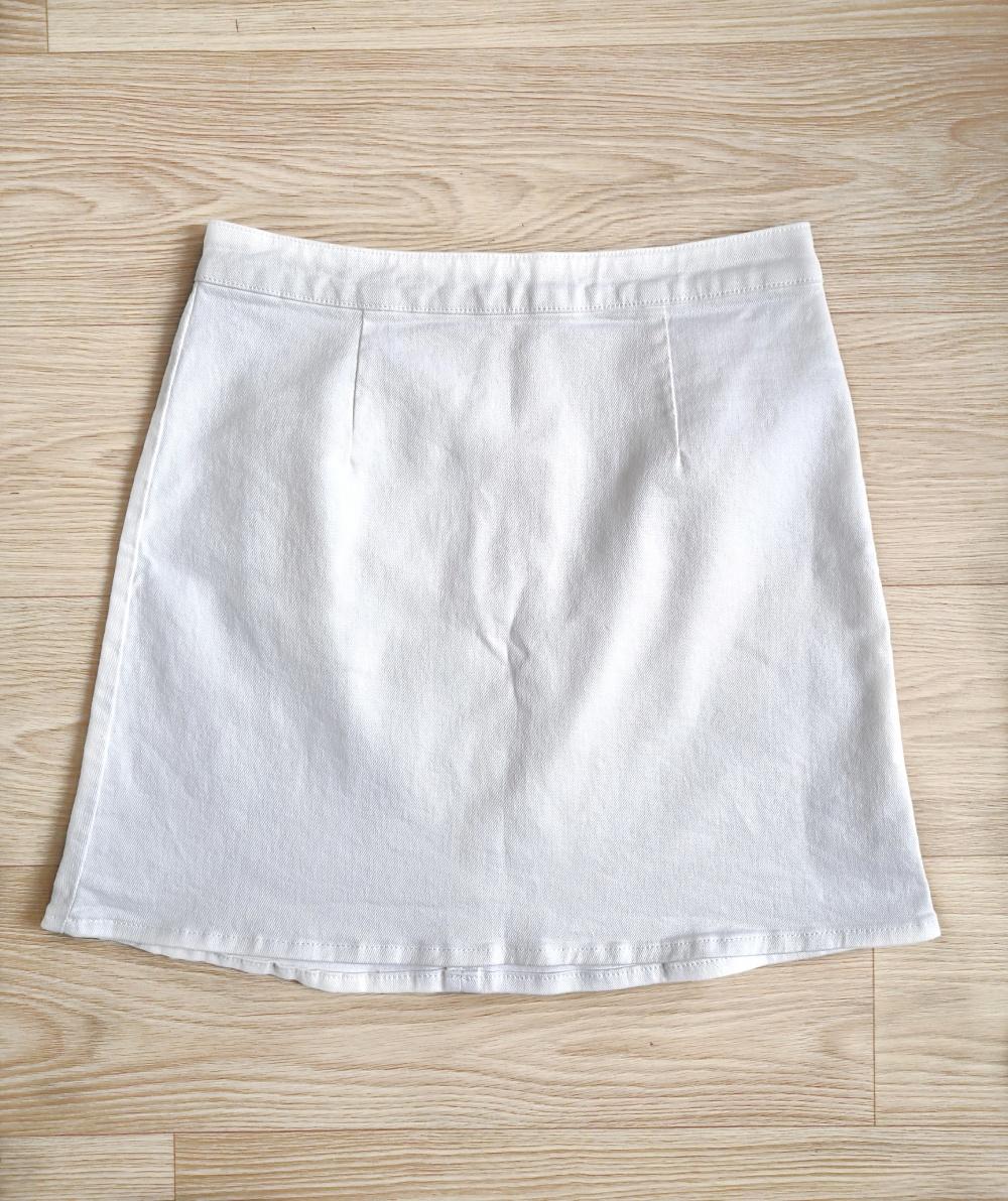 Белая джинсовая юбка ASOS 10UK