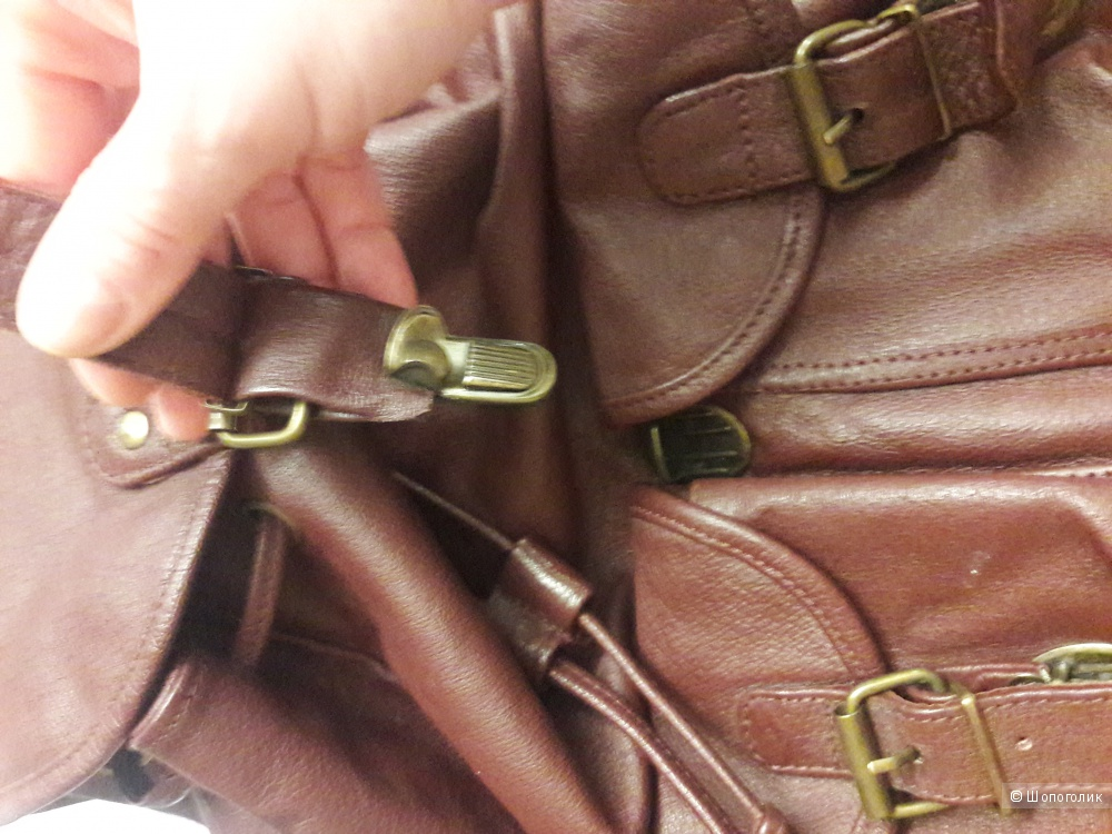Кожаный рюкзак ноу нэйм