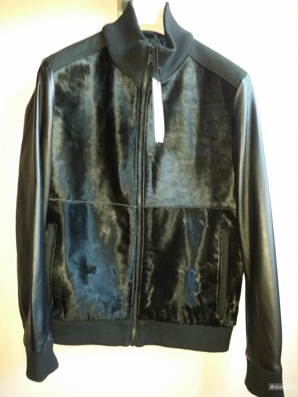 Кожаная куртка Studio by Jack & Jones, унисекс, М