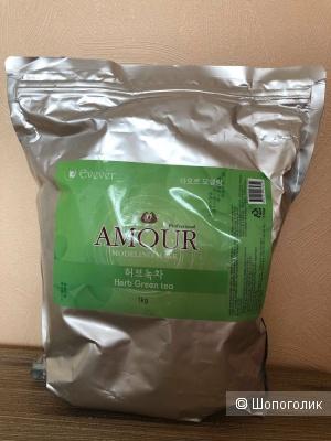 Профессиональная салонная альгинатная маска с зеленым чаем Amour 1 кг