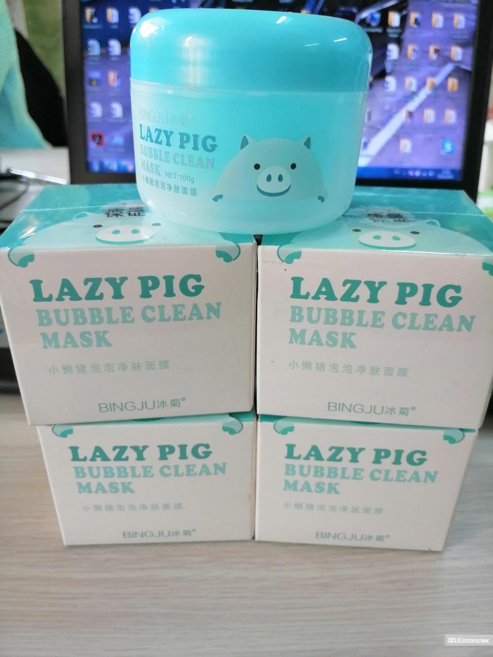 Кислородная маска для лица BINGJU Lazy pig bubble clean mask