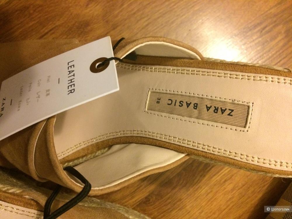 Босоножки замша Zara 38 (24,3 см.)