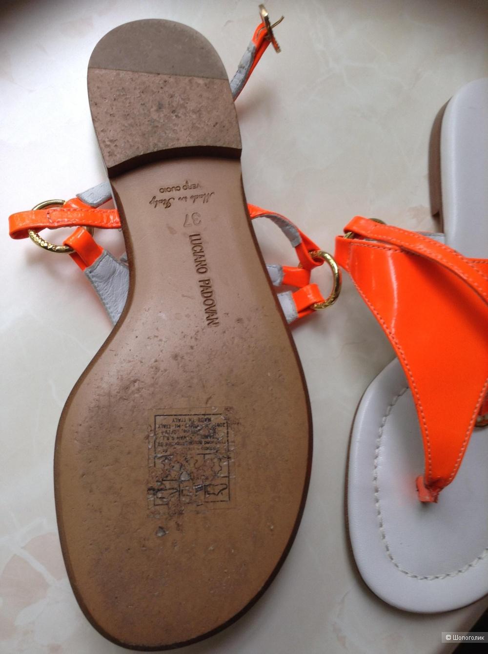 Кожаные сабо LUCIANO PADOVAN, 37 размер