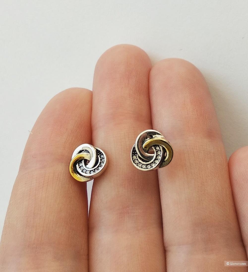 "Серьги ""Pandora"" (серебро 925)"