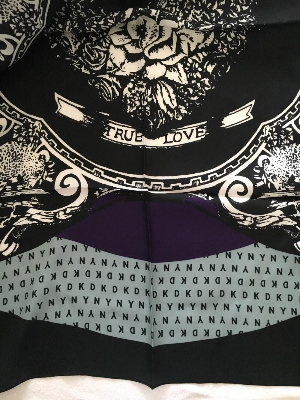 Шёлковый платок DKNY 100x100