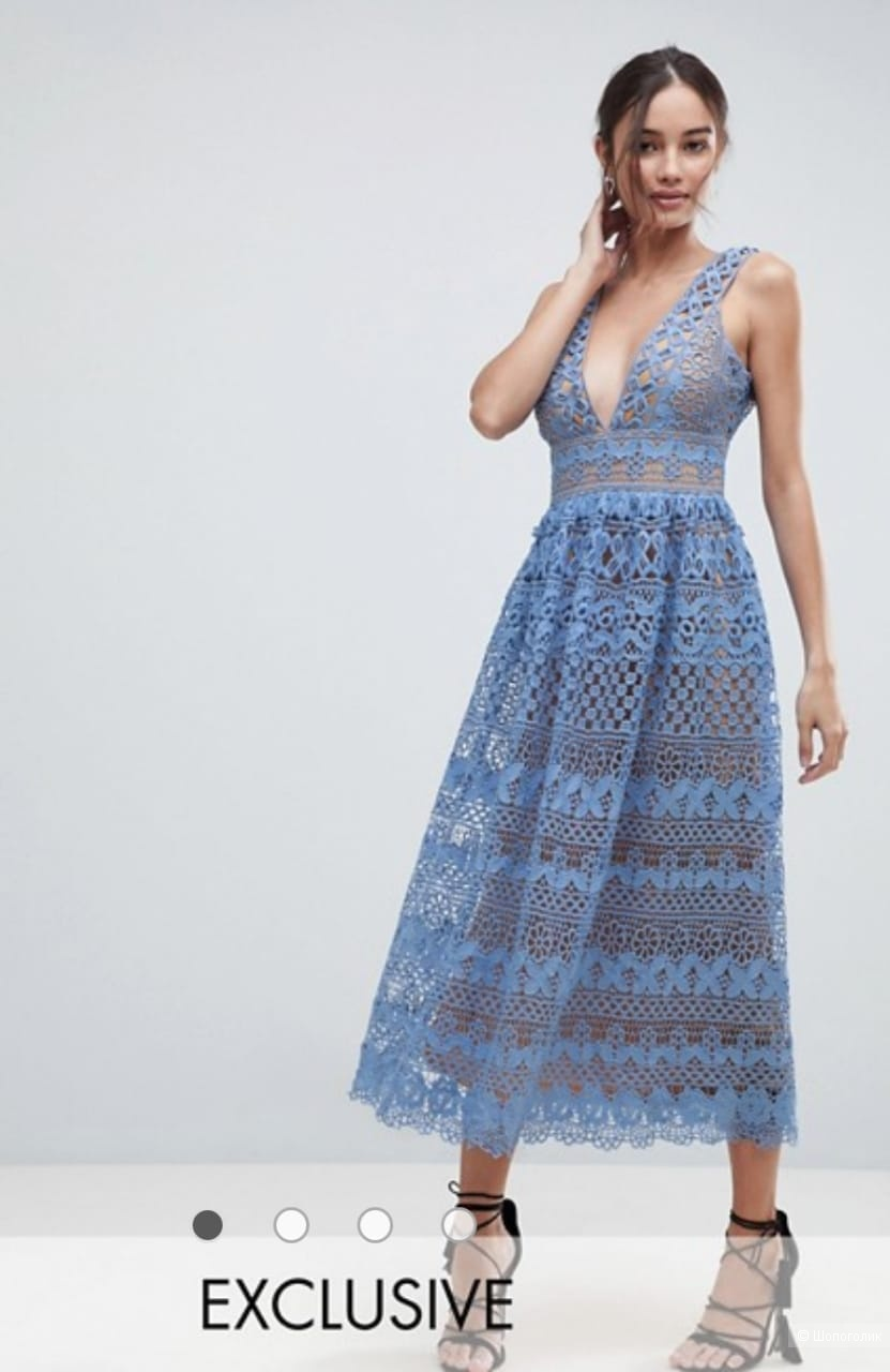 Платье из кружева Boohoo, 44 размер