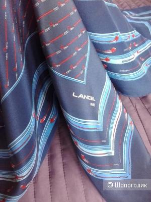 Платок Lancel шелк винтаж 86х83
