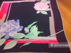 Платок  Leonard шелк темно-синий 82*90 см.