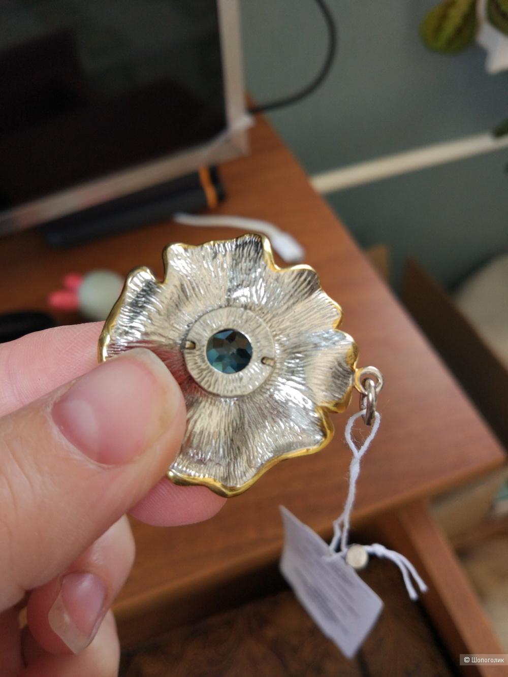 Подвеска серебряная с голубым топазом