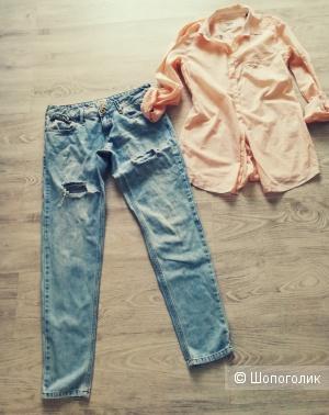 Лот рубашка Massimo dutti + джинсы River Island, размер S