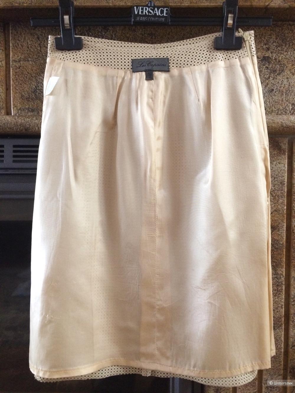 Сет: Кожаная юбка Les Copains + лонгслив Monosque 42-44