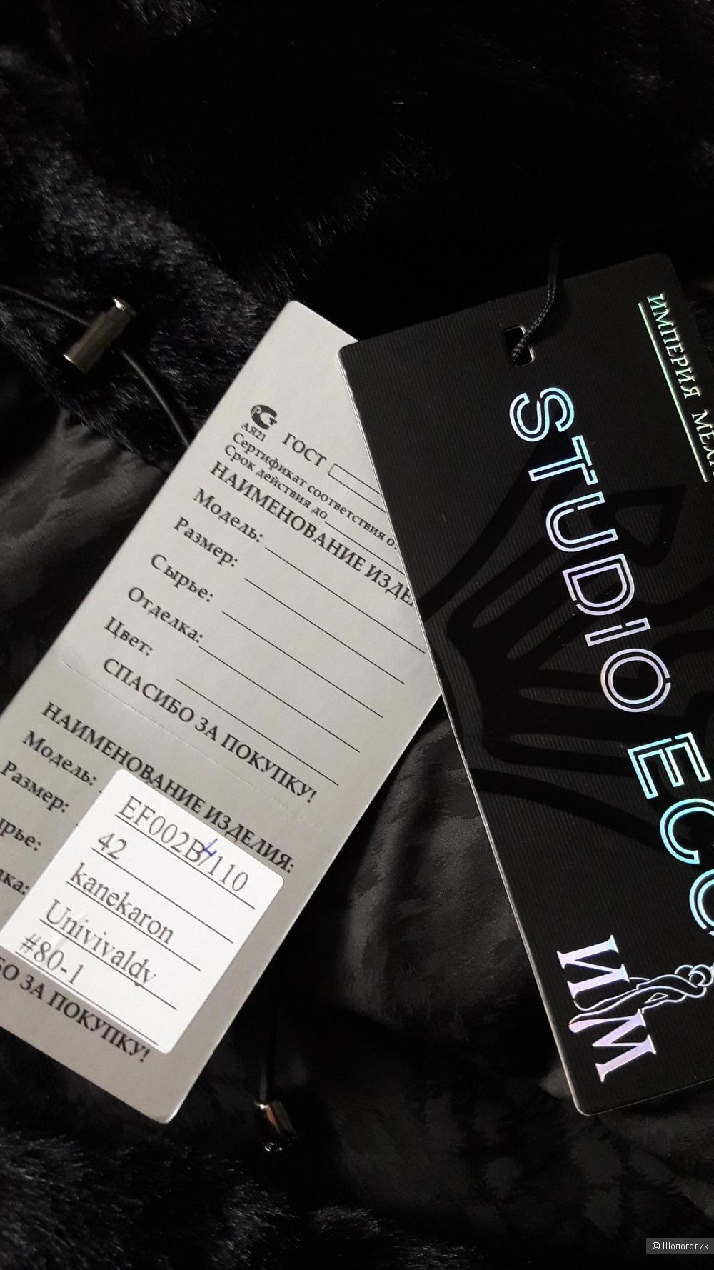 Шуба эконорка STUDIO ECO, размер 42