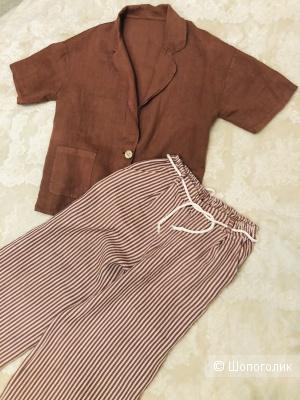 Льняной костюм размер 44-46-48