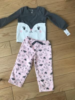 Флисовая пижама carters новая размер 3 года