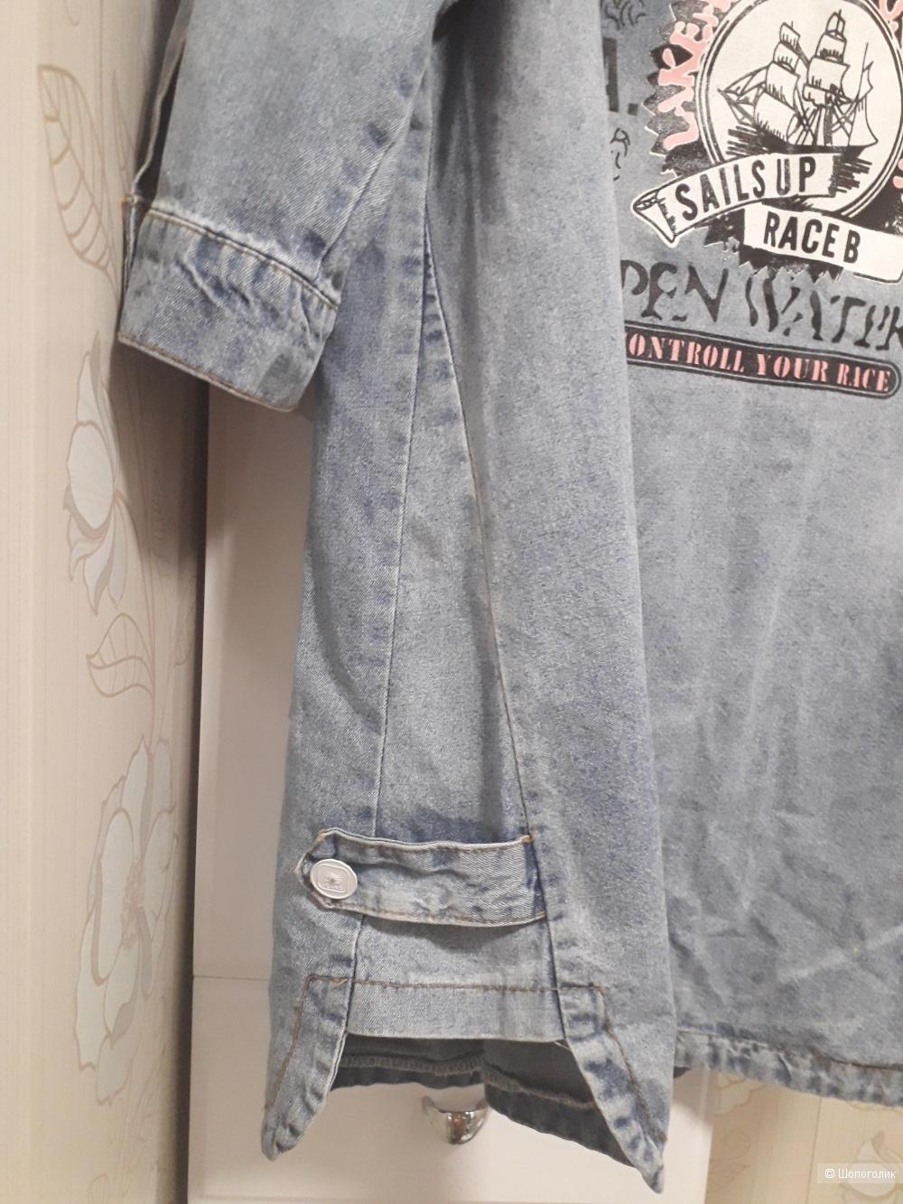 Джинсовая курточка MEILISHUO, 5XL.