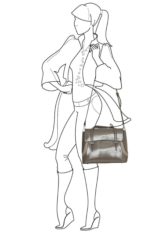 Сумка-сэтчел женская, Baldinini Dian, medium.
