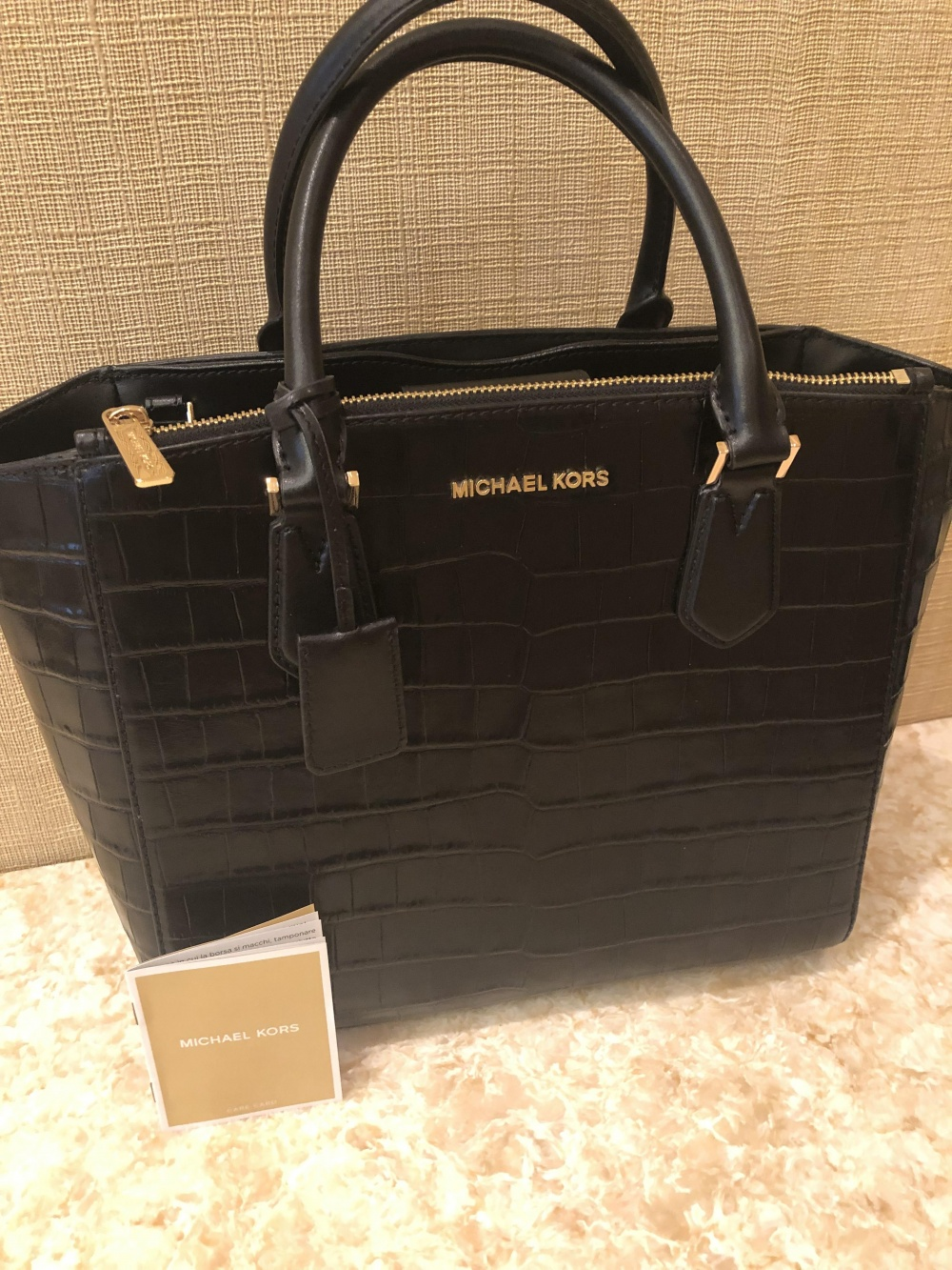 Сумка Michael Kors Mercer Crocodile Effect