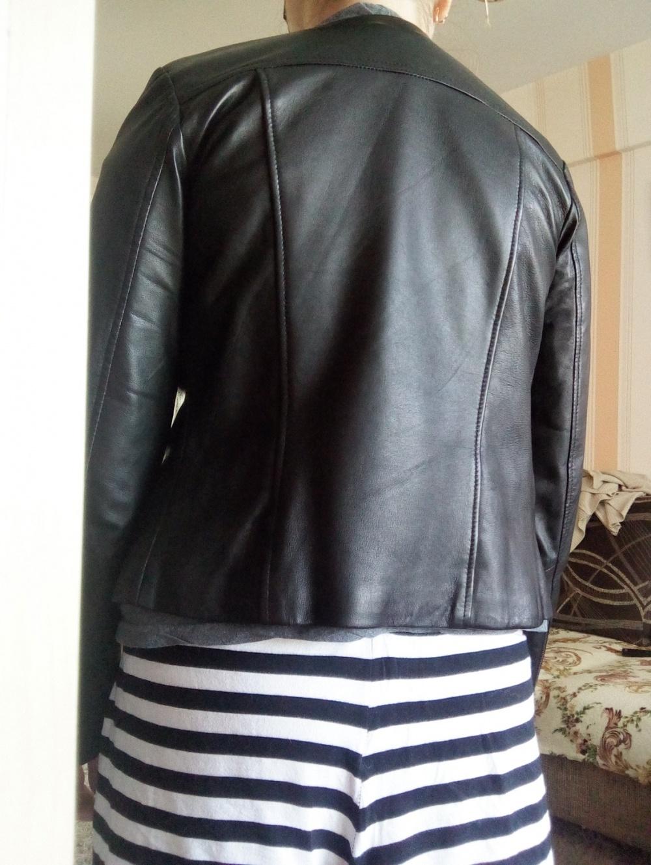 Кожаная куртка Mango,размер S, 100% овечья кожа