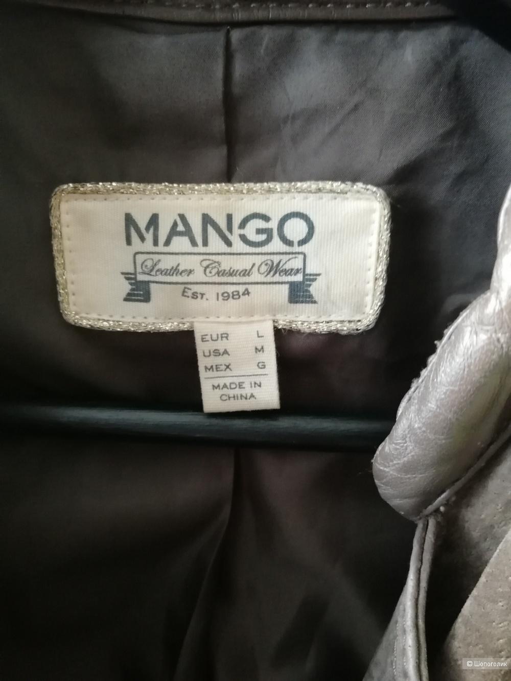Кожаная куртка Mango, размер L