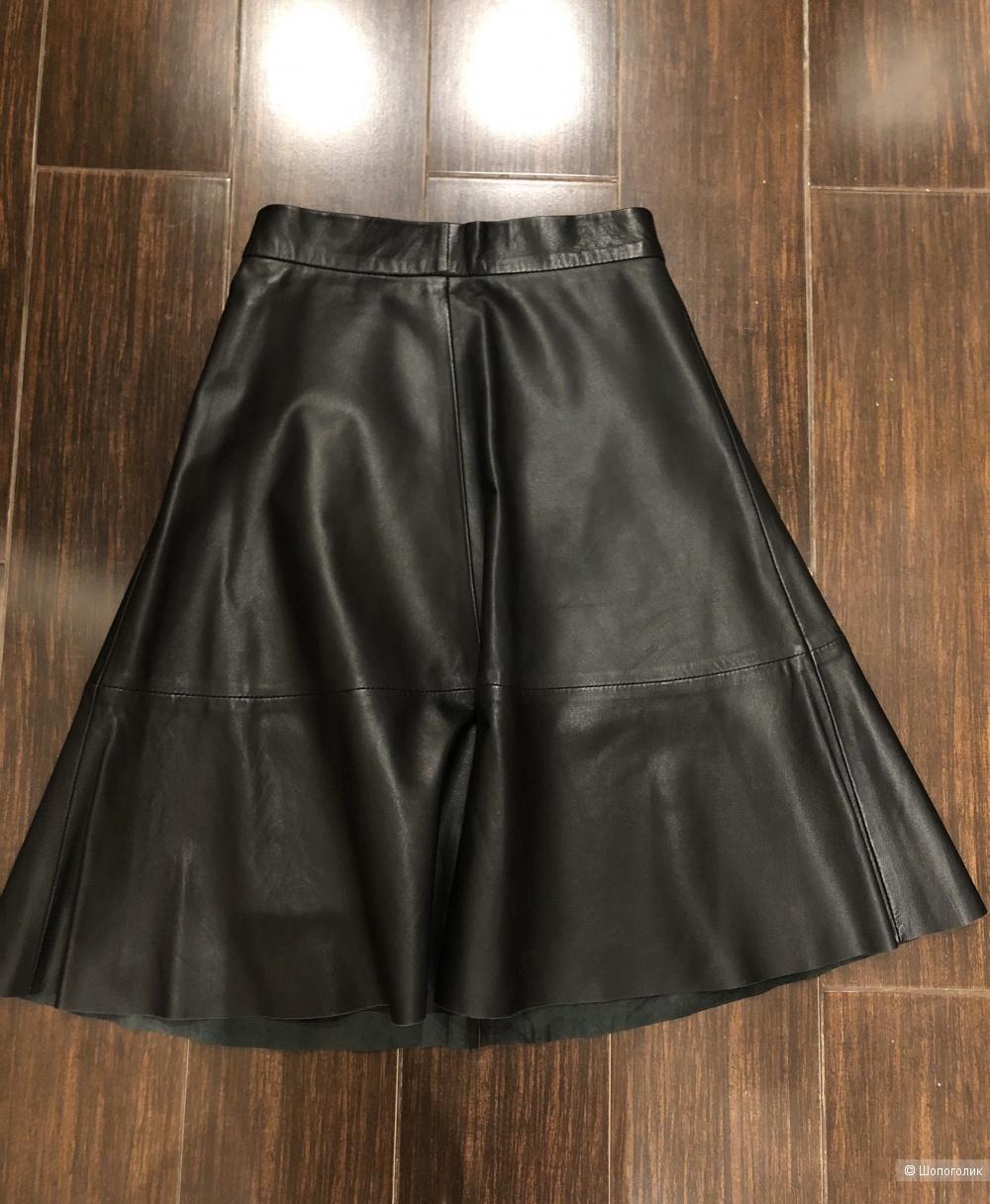 Кожаная юбка Premium Quality H&M 34 размер