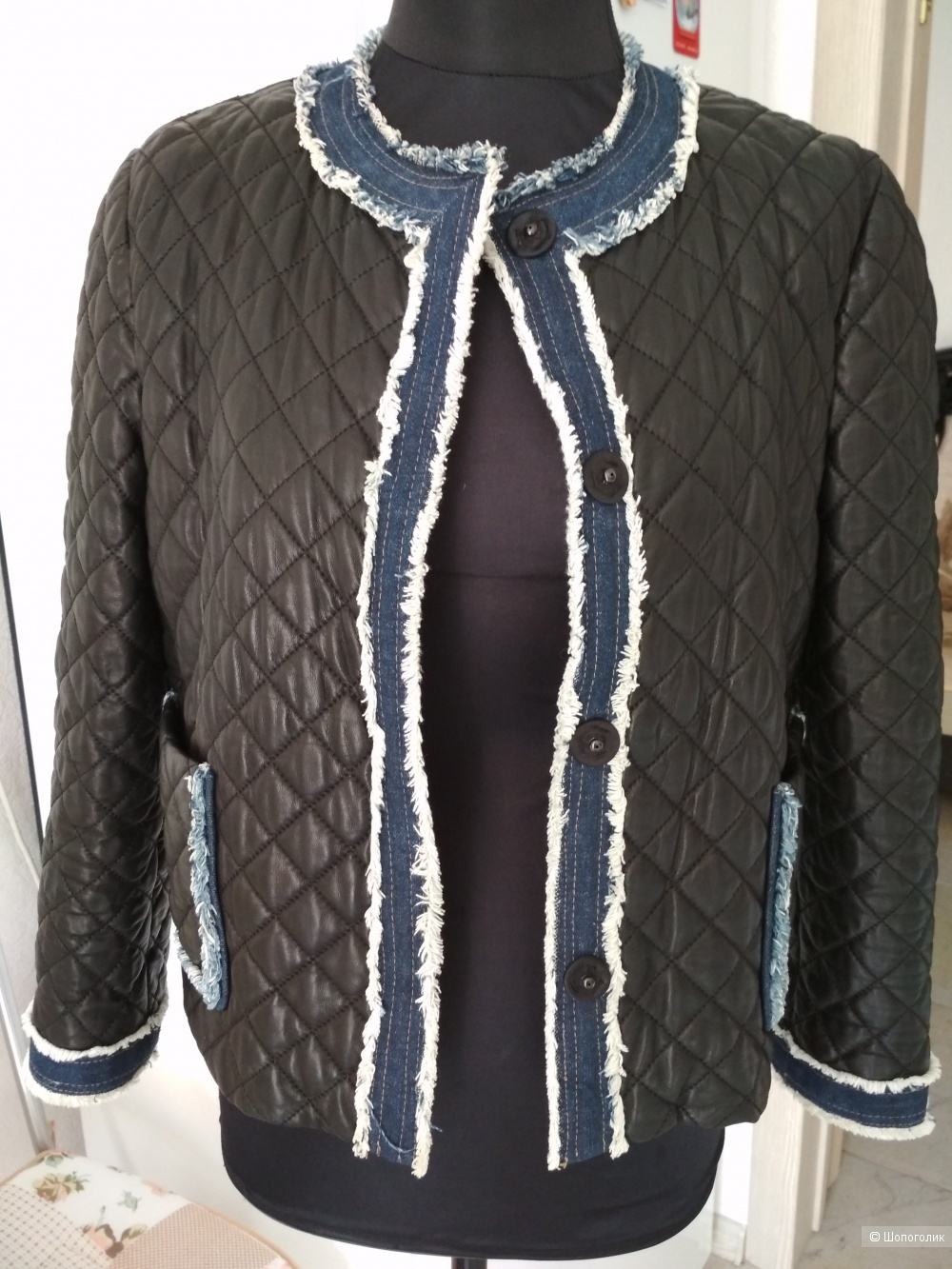 Кожаная куртка  Dolce & Gabbana, р. 46