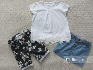 Летний сет - юбка, шорты H&M и футболка Zara размер 5 лет