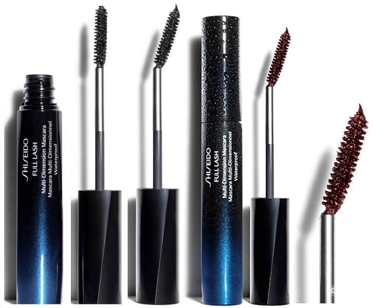 Тушь shiseido чёрная водостойкая