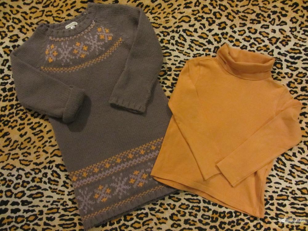 Сет- платье и водолазка Verbaudet, юбки Jbc и Zara, размер 5-7 лет