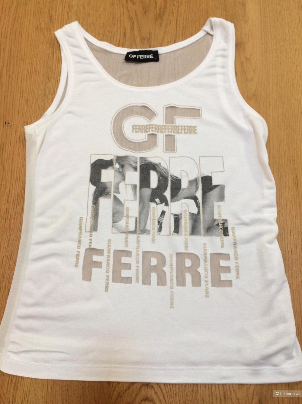 Сет из 3-х вещей:Юбка Les Copains +Футболка GF Ferre + бусы  размер 42-44