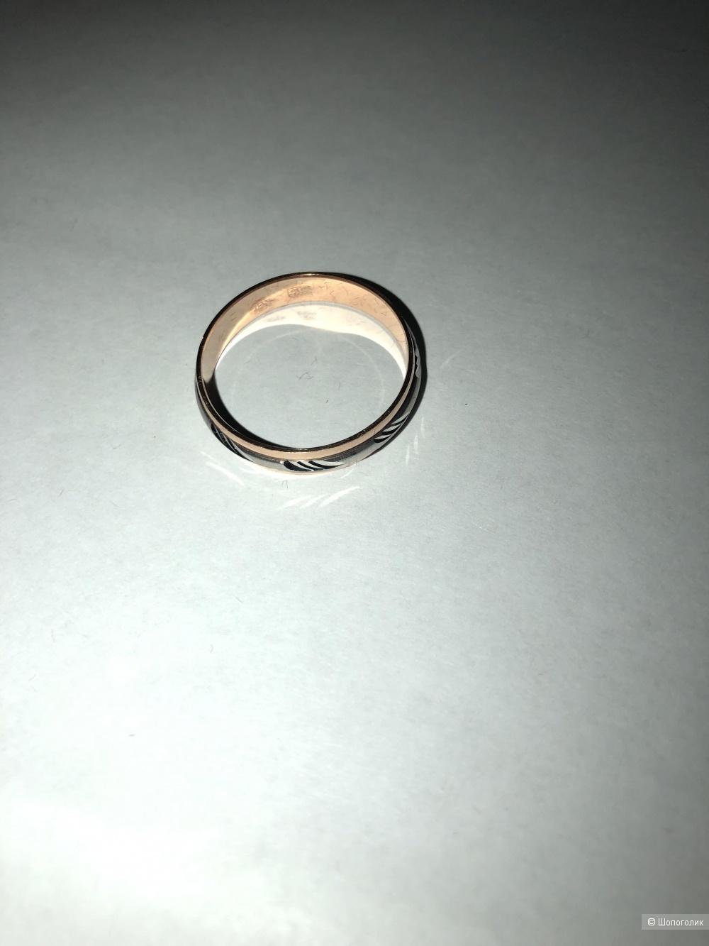 Кольцо золотое Мужское 21,5 размер