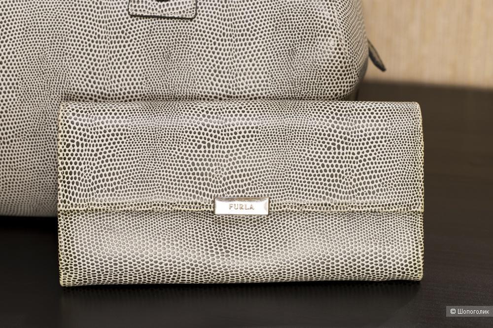 Сумка-тоут женская - Furla Papermoon (medium) + большой кошелек Furla - комплект.