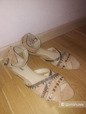 Замшевые сандалии Bimba Y Lola 40 размера