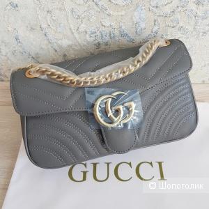Сумка Gucci GG Marmont (серая)