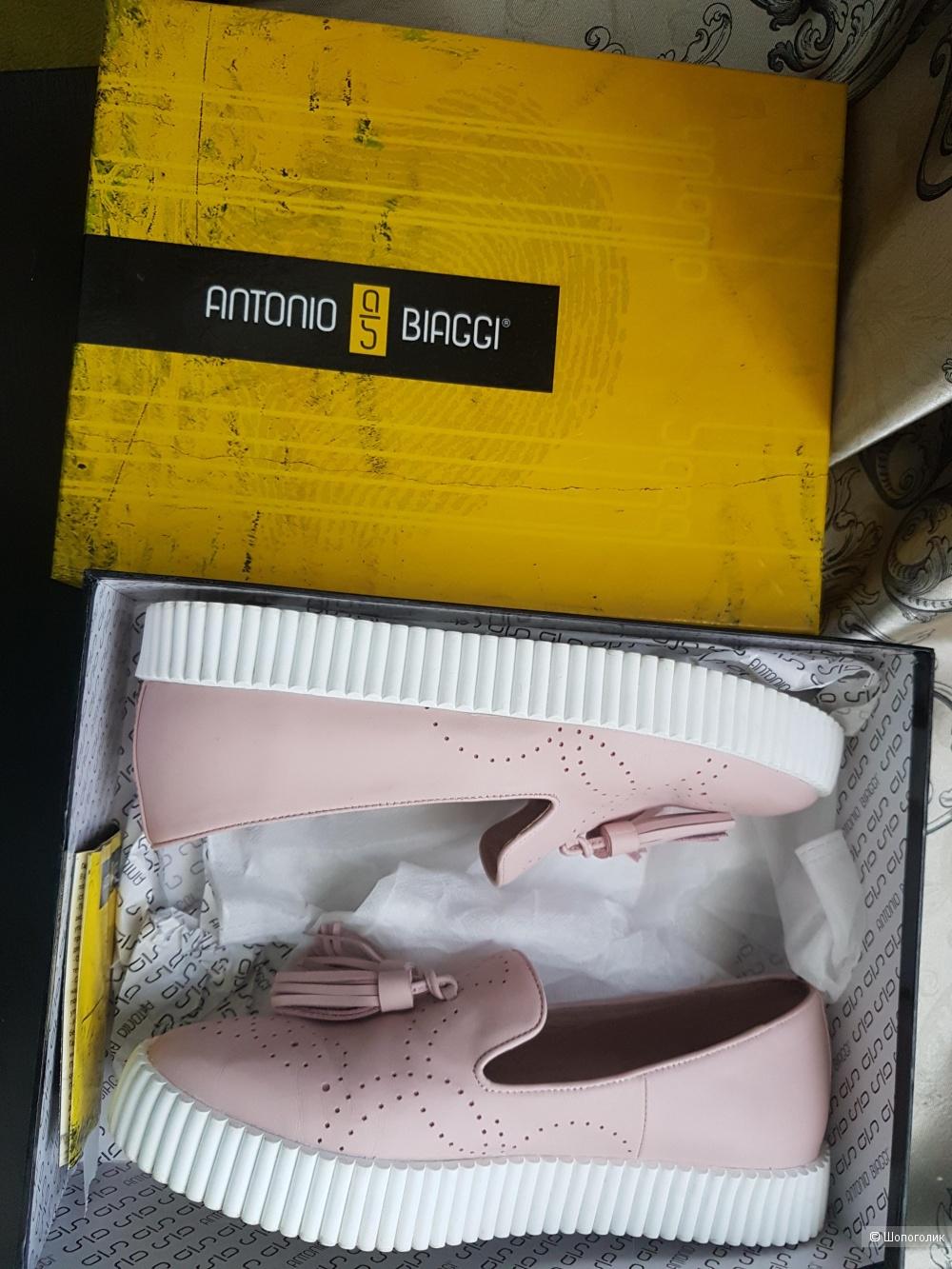Кожаные слипоны Antonio Biaggi, 39 размер.