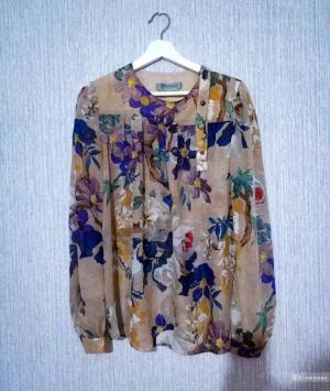 Шелковая блузка Sportmax Max Mara, размер M