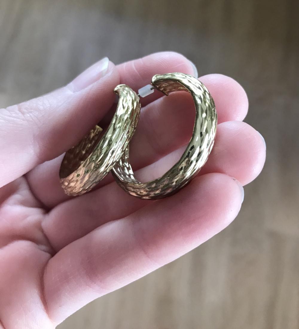 """Серебряные серьги-кольца """"Конго"""" onesize"""