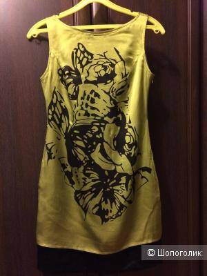 Платье шелковое Chanel 42 размер реплика