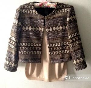 Комплект одежды из смесовой шерсти пиджак noname и майка moschino jeans, размер 42-44