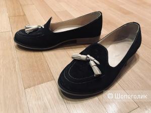 Туфли лоферы из замши Jonathan 37,5