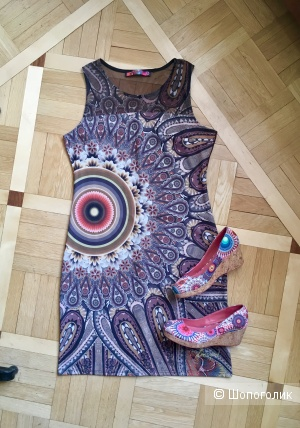 Сет из платья и туфель Desigual, L и 38 соответственно
