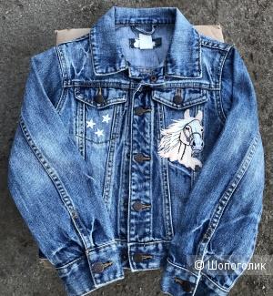 Джинсовая куртка для девочки размер 128 ( 7-8 лет )